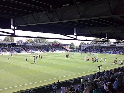 Yeovil's Huish Park ground.