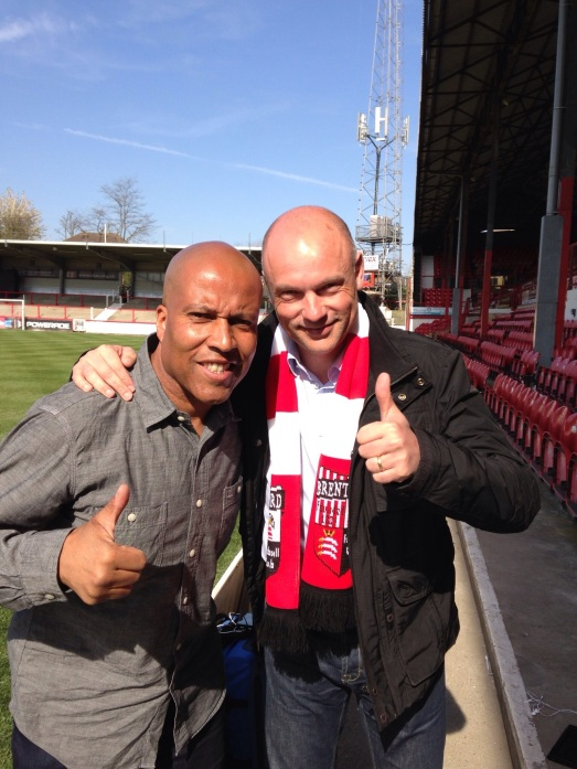 Billy and Uwe at Brentford