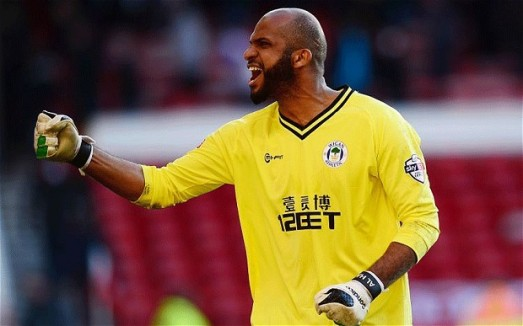 Ali Al-Habsi was lucky not to receive a red card.