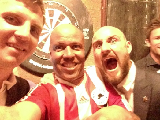 Billy down the pub with Rosler signings Brentford captain Tony Craig and Alan McCormack (and the rest of the team) the night Brentford won promotion.
