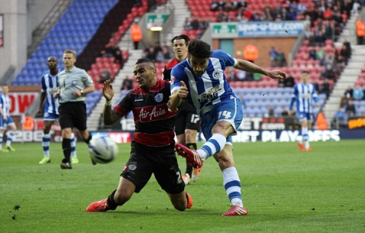Skybet championship play off semi final, Wigan Athletic v QPR
